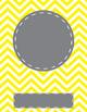 Free Editable Monogram Chevron Binder Cover