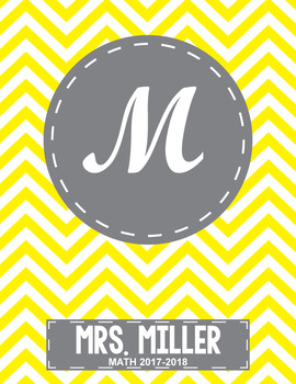 Free Editable Monogram Chevron Binder Cover