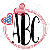 Monogram Heart SVG 4th of July Independence Day Crafters