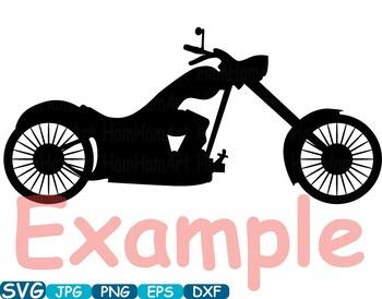 Monogram Motorbike Cutting Files SVG Motorcycle clipart motor bike t-shirt -303s