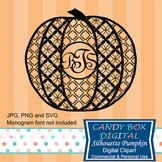 Monogram Silhouette Pumpkin for Thanksgiving or Halloween
