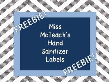 Monogram Hand Sanitizer Label ((FREEBIE))