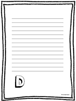 Monogram Writing Paper