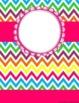 Monogrammed Notebook Cover - Cute Rainbow Chevron