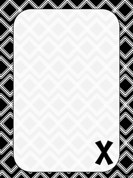 "Monogrammed ""X"" Stationary"