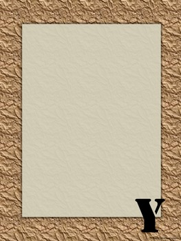 "Monogrammed ""Y"" Stationary"