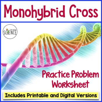 Monohybrid Cross Punnett Square Worksheet By Amy Brown Science Tpt