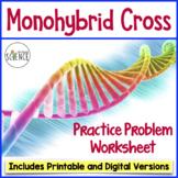 Monohybrid Cross Punnett Square Worksheet