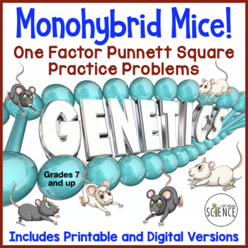 Monohybrid Mice! (Monohybrid Genetics Problems) by Amy Brown Science