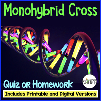 Monohybrid Quiz or Homework (One-Factor Genetics Problems)