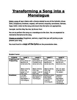 Monologue Assignment