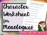 Monologue Character Worksheet