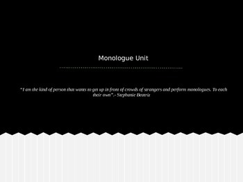 Monologue Introduction PowerPoint
