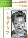 Women History - Maya Angelou, Author,  & Civil Rights Activist (1928-2014)