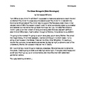 Monologue Package Including Assignment and Rubric
