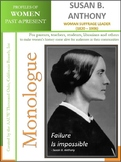 Women History - Susan B. Anthony - Woman Suffrage Leader (1820 – 1906)