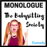 Monologue:  The Babysitting Society