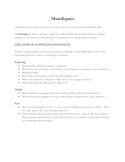 Monologue Unit (Multiple Assignments)
