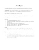 Monologue Unit (Multiple Assignments)