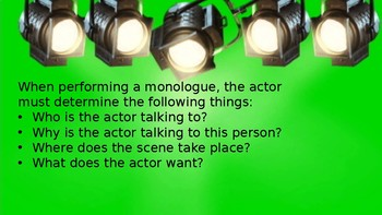 Monologue or Duet Scene Project