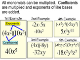 Monomial Definitions and Operations for Power Point
