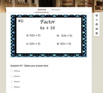 Monomial Factors of Polynomials (Google Form, Video Lesson & Notes!)