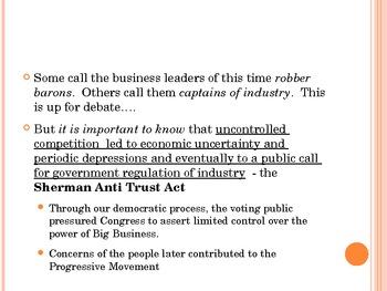 Monopolies, Carnegie, Rockefeller, Entrepreneurship: SC Standards 4.2-4.3