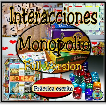 Monopoly Board Game Activities Rules And Vocabulary Bundle Tpt