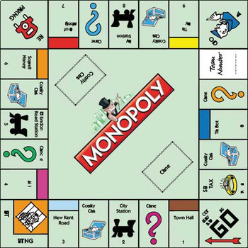monopoly board game activities rules and vocabulary bundle tpt rh teacherspayteachers com Monopoly Board Game Box Monopoly Game Board Directions