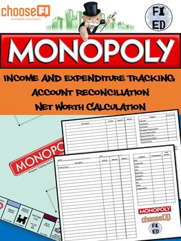 Cashflow Tracker and Net Worth Calculation Activity | Suitable for Monopoly
