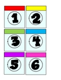 Monopoly Multicolored Calendar Pieces 1-31