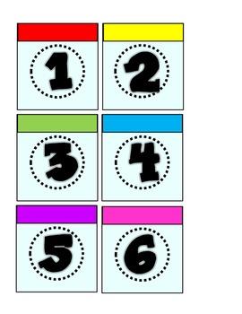 Monopoly Multicolored Calendar Pieces 1-31