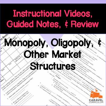 monopoly oligopoly other market structures instructional videos rh teacherspayteachers com