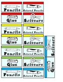 Monopoly Themed Supply Bin Labels