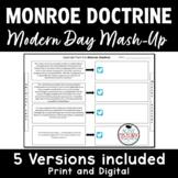 Monroe Doctrine - Modern Day Mash-Up!  (plus emoji exit ticket)