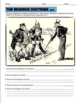 Monroe Doctrine Political Cartoon Analysis