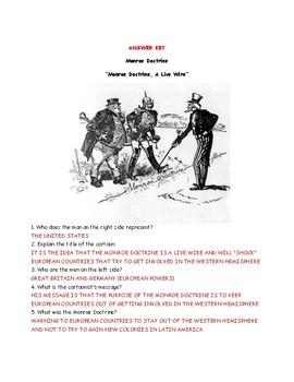 Monroe Doctrine Political Cartoon Worksheet ans Answer Key