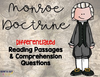 Monroe Doctrine Reading Passages for SS Integration