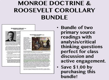 Monroe Doctrine & Roosevelt Corollary Bundle - USH/APUSH