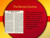 Monroe Doctrine, Texas Revolution, War with Mexico: SC Stand 2.2