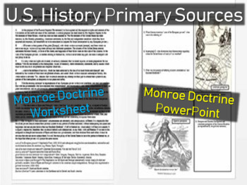 Monroe Doctrine Worksheet Amp Ppt Approachable Engaging