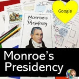 Monroe's Presidency and Monroe Doctrine with Google Slides and Doodle Notes