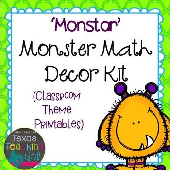 'Monstar' Monster Math Decor Kit