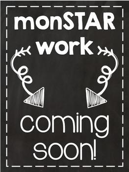 Monstar Work Coming Soon Poster FREEBIE
