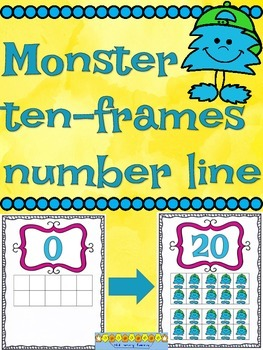 Number Line Posters--Monster Theme