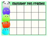 Monster 10-frames - teen numbers