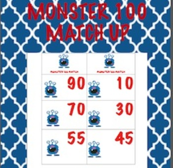 Make 100 Sorting Activity with Monster Theme