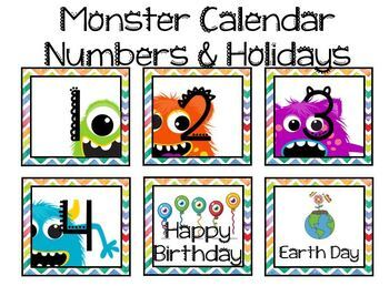 Monster 2.0 Calendar Numbers