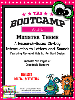 Monster ABC BOOTCAMP & HATS! Editable 26 Day Introduction