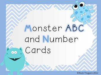 Monster ABC and Number Cards
